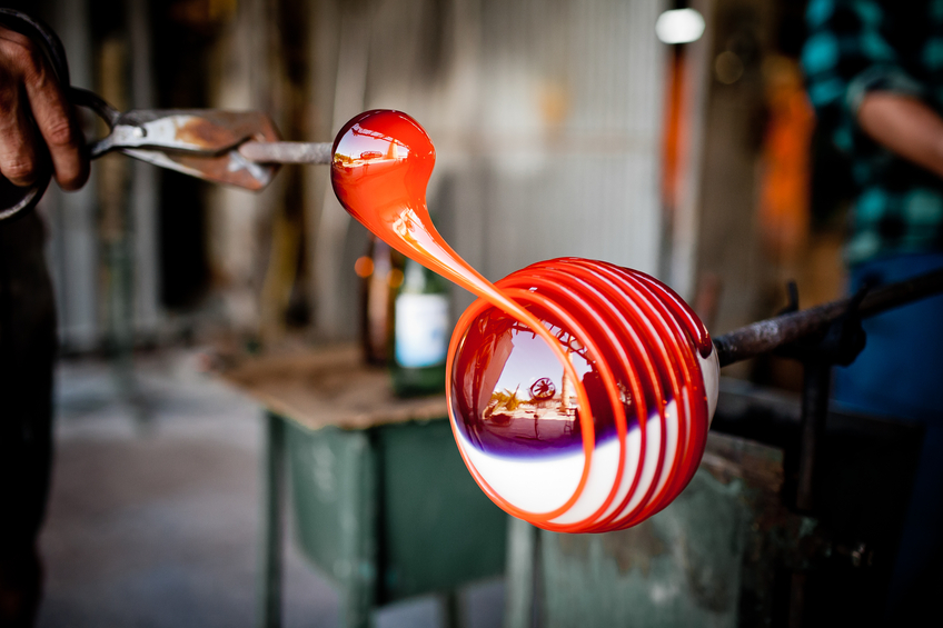 hand made glass blowing